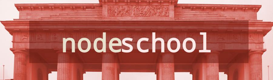 NodeSchool Berlin @jsfest.berlin