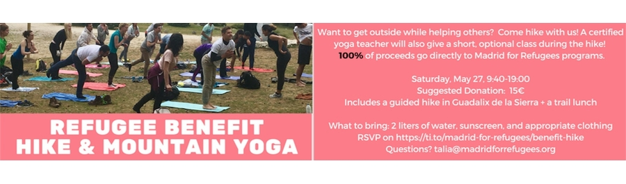 Refugee Benefit Hike and Yoga Guadalix