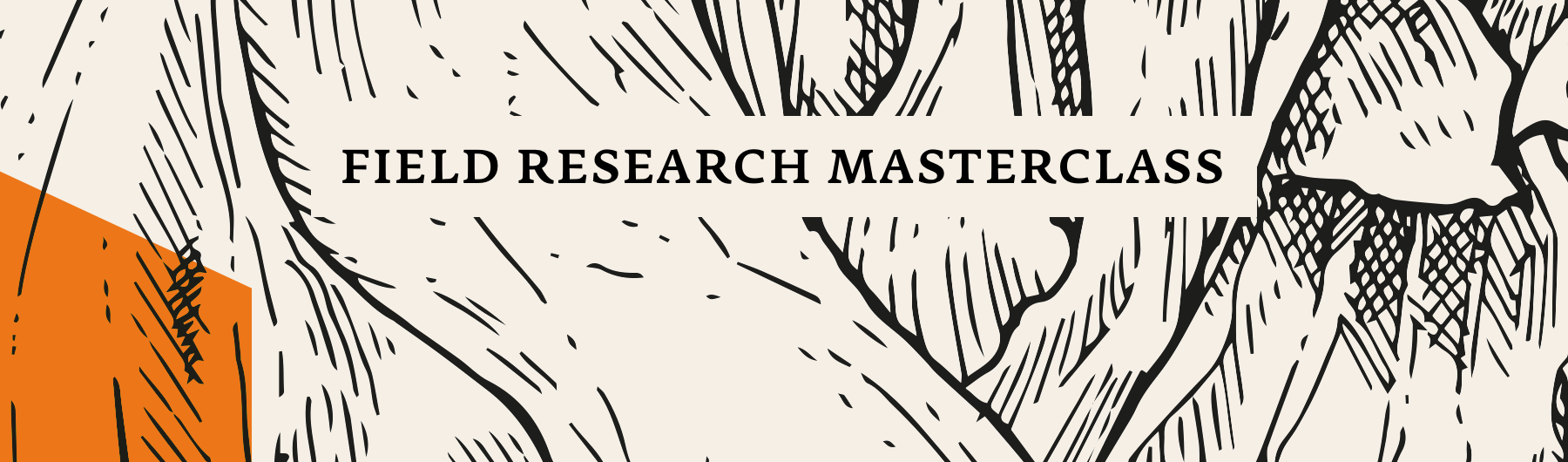 May 18, Field Research Masterclass, Amsterdam