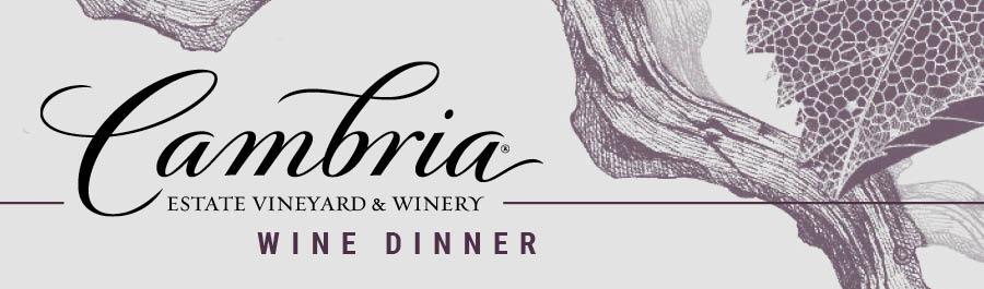Cambria Wine Dinner at Mr. B's - Mequon