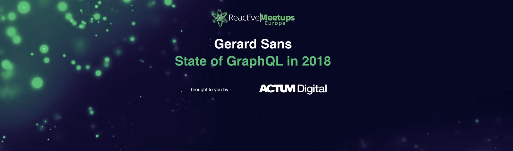 ReactiveMeetups Prague | Gerard Sans