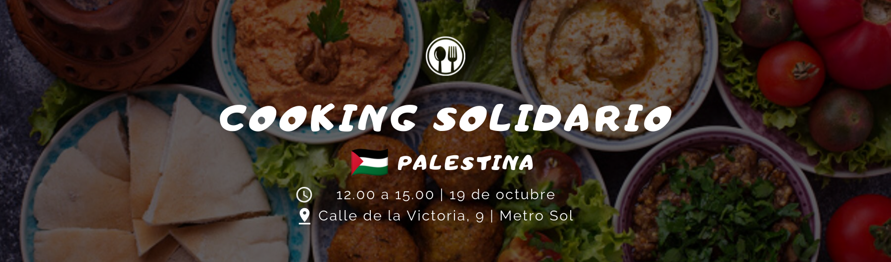 Clase de cocina solidaria palestina