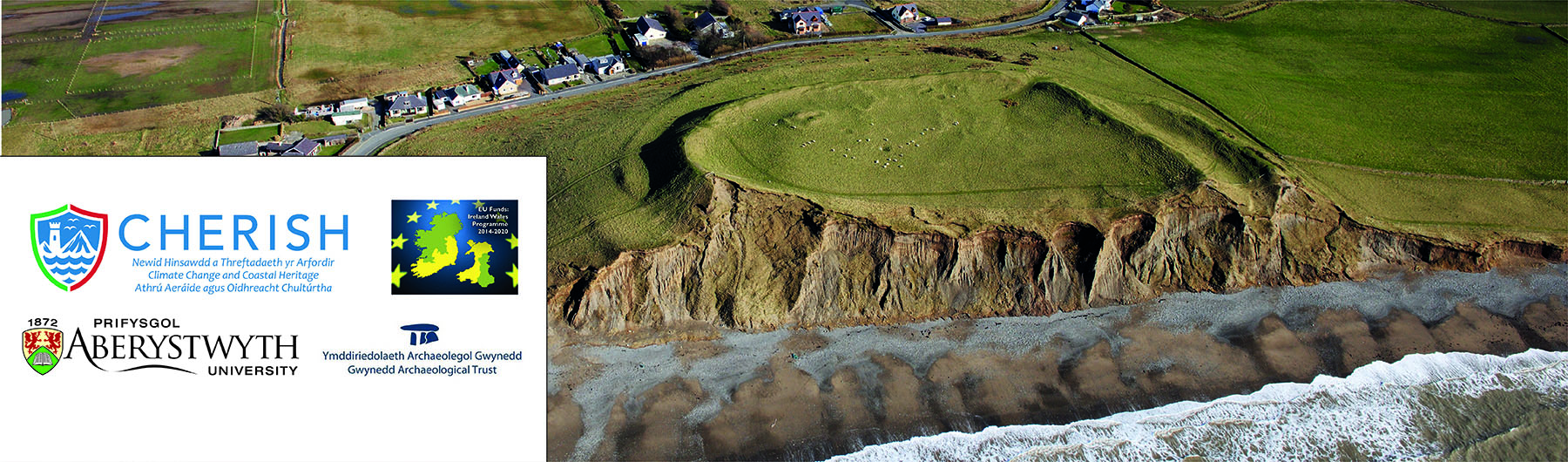 Darlith Nadolig y Comisiwn Brenhinol:  A Story of Sand, Sea and Storms: Uncovering the Secrets of Dinas Dinlle Hillfort in Gwynedd