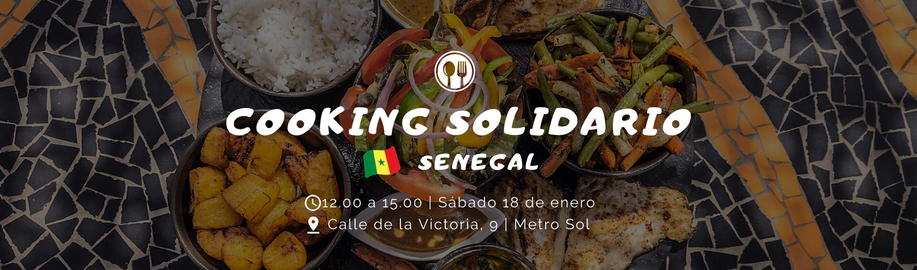 Clase de cocina solidaria senegalesa - 18 enero 2020
