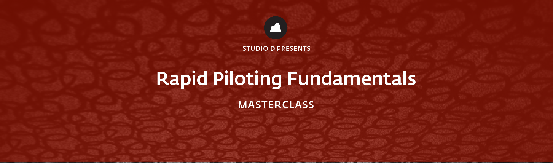 Rapid Piloting Fundamentals Masterclass, 15 May 2020, San Francisco