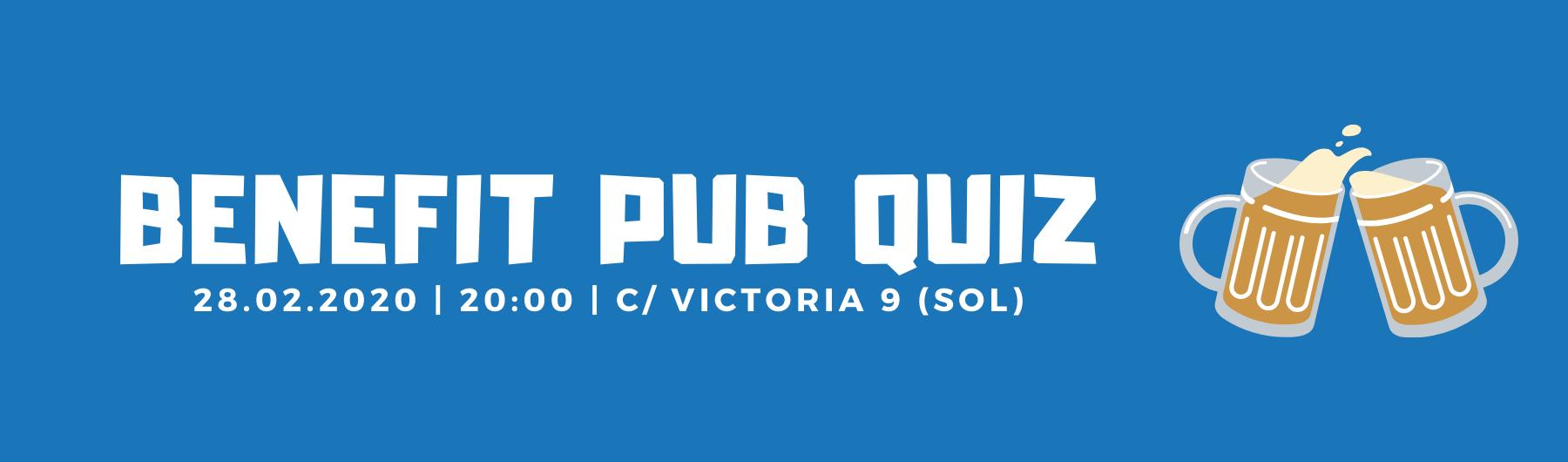 Benefit Pub Quiz  28 February
