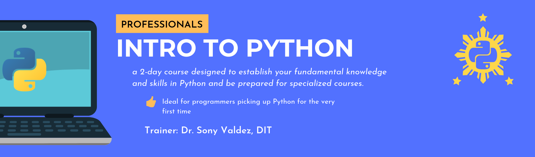 Intro to Python for Professionals