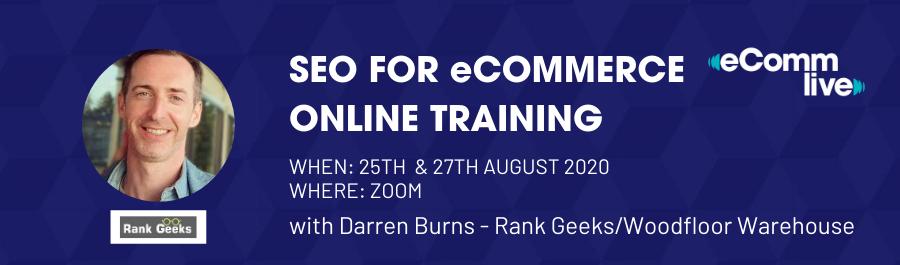 SEO for eCommerce Training