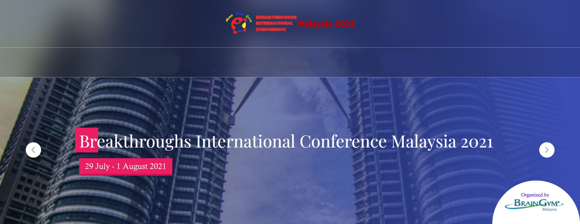 First Virtual Breakthroughs International Conference Malaysia 2021