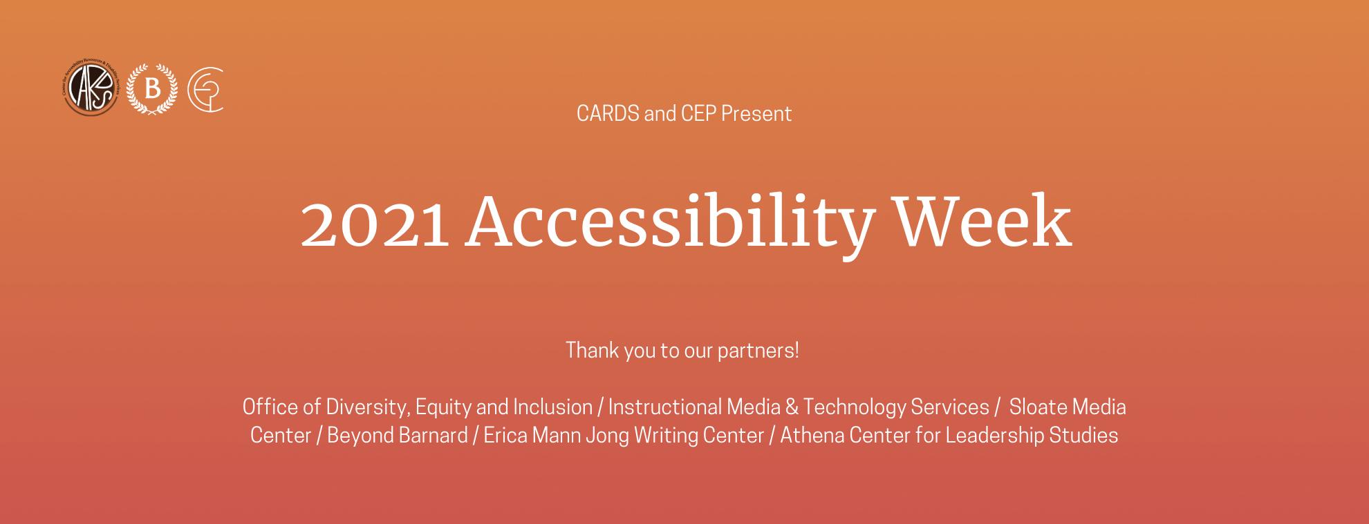 Barnard College Accessibility Week 2021