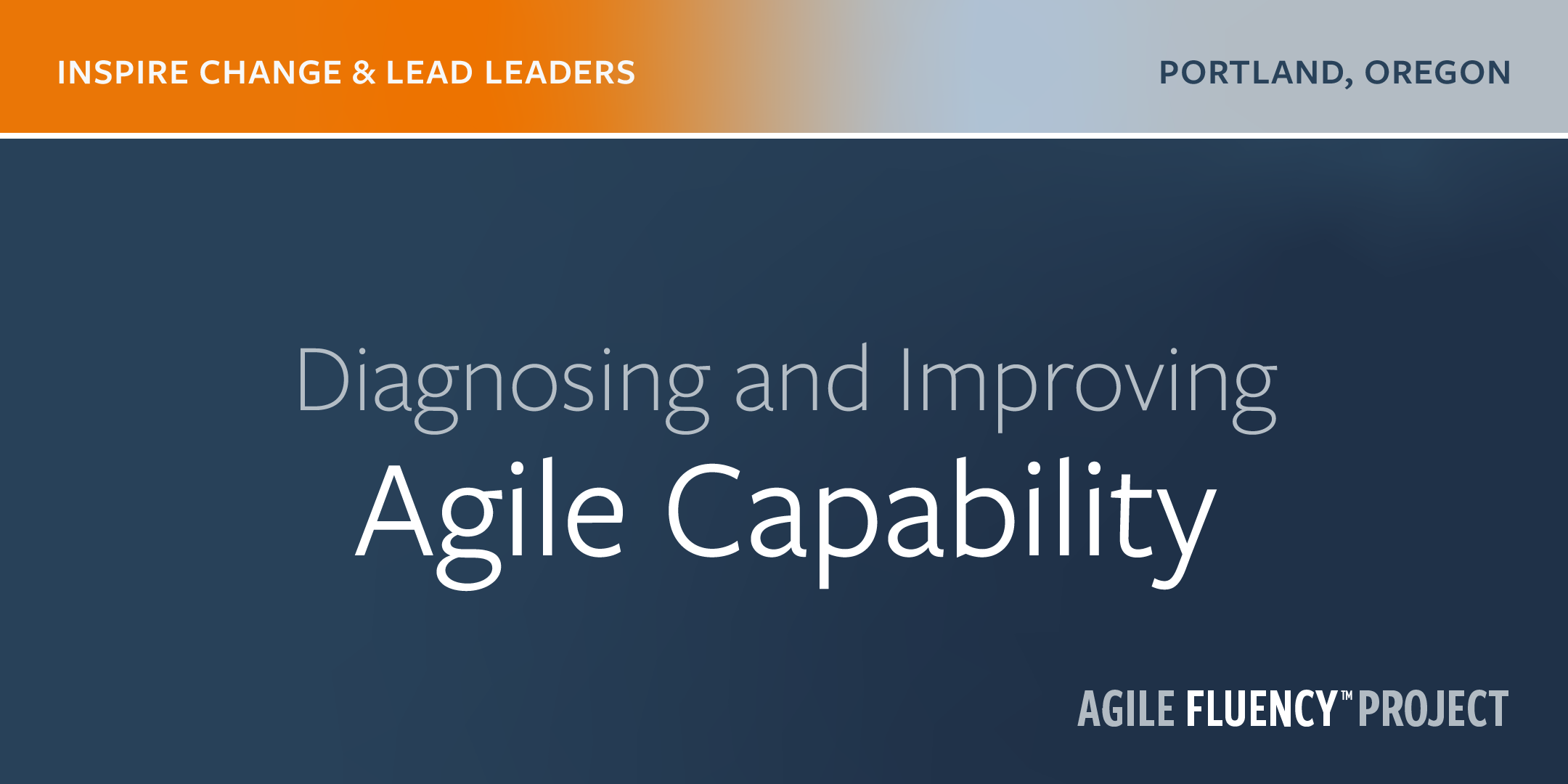 Diagnosing and Improving Agile Capability