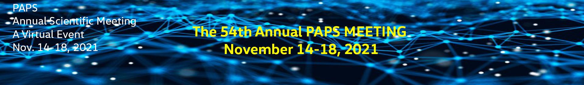 PAPS 2021 Virtual Meeting