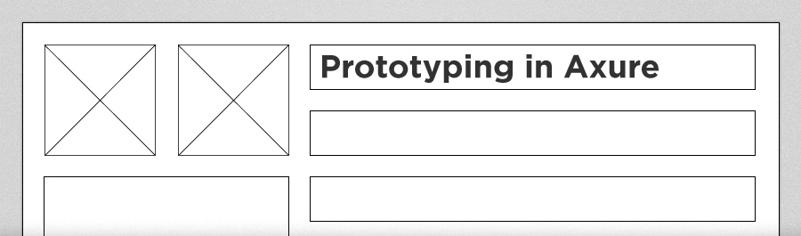 Prototyping in Axure